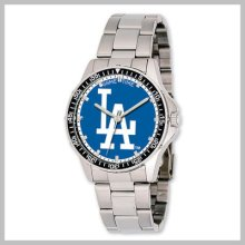 Men's Mlb Stainless Steel Los Angeles Dodgers Coach Watch