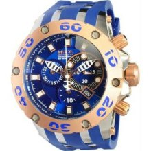 Men's Rose Two Tone Reserve Diver Chronograph Swiss Quartz Blue