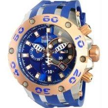 Men's Rose Two Tone Reserve Diver Chronograph Swiss Quartz Blue