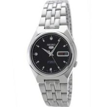 Men's Stainless Steel Case and Bracelet Automatic Black Tone