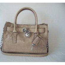 Michael Kors Women's Hamilton Dusk E/w Satchel Leather Purse Shoulder Bag