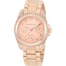 Michael Kors Women's MK5613 Rose Gold Chronograph Watch