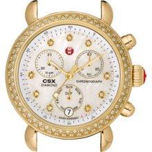 MICHELE 'CSX-36 Diamond' Diamond Dial Gold Watch Case