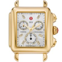 MICHELE 'Deco' Diamond Dial Gold Watch Case