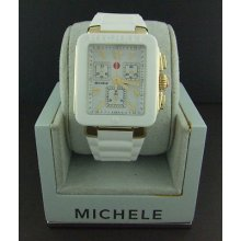 Michele Jelly Bean Park White & Yellow Gold Tone Watch Mww06l000013