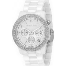 MK5188 Michael Kors Ladies Crystals White Dial Ceramic Bracelet Watch