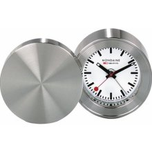 Mondaine White Dial Stainless Steel Case Travel Alarm Clock A992.tral.16sbb