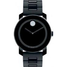 Movado Bold 3600102 Watch Small Unisex Black Dial Quartz Movement 36mm Case
