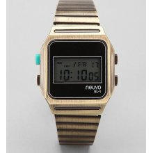 Neuvo Digital Watch: Gold One Size M_acc_watches