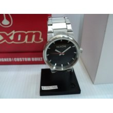 Nixon The Cannon Watch Mens Snowboard Watches Silver Black Time