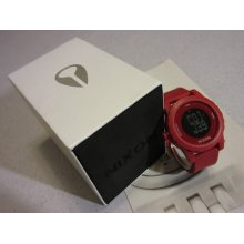 Nixon Wrist Watch The Genie All Red / White | Light Chrono Date 100m W/ Box