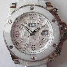 Oniss Men's Watch Quartz Hiteck All White Ceramic Case&band Original Edition