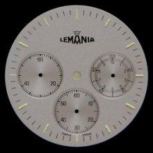 Original Lemania Chronograph Watch Dial Men's