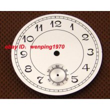 P136,38.9mm White Numberals Dial Fit Eta 6498 Or Seagull Movement