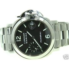 Panerai Luminor Marina Pam 50 Steel Mens 40mm Watch