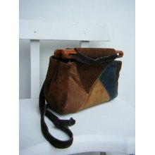 Patchwork Leather Hippie Bag