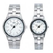 Pedre 0089SX,5370SX-B - Pedre - Big Date Men's & Women's Silver-tone Bracelet Watch
