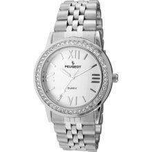 Peugeot 7082S 7082S Stainless Steel Silver-Tone Bracelet Watch