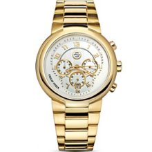 Philip Stein Women's 32-AGW-GSS Quartz Gold Plated Chronograph Watch