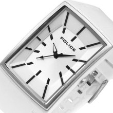 Police Vantage-x Mens Analog Watch White Rubber Band Pl-13077mpws/04