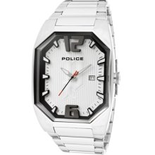 Police Watches Men's Octane Silver Dial Stainless Steel Stainless Stee