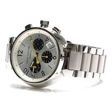Preowned Louis Vuitton Men's Stainless Steel Tambour Automatique Watch