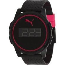 PU910971004 Puma Flat Coaster Black Pink Watch