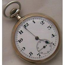 Quarter Repeater Pocket Watch Open Face Silver Case 49 Mm. In Diameter Running
