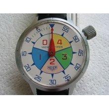 Rare 70's Heuer Yacht Timer Chrono,stopwatch,52,5mm. Dia.cal 7710,serviced