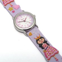 Ravel Kids Childrens Girls Watch Princess Motif 3d Silicone Strap
