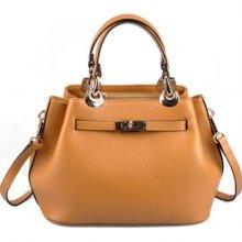 Real Leather Genuine Leather Tote Shoulder Bag Purse Hobo Handbag B332