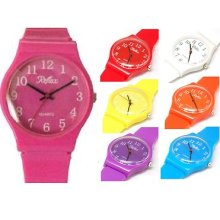 Reflex Coloured Strap Kids Girls Boys Easy To Read Watch Xmas Gift For Him Her