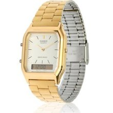 Retro Casio Watch In Champagne Gold ★classic★ Aq230 ★