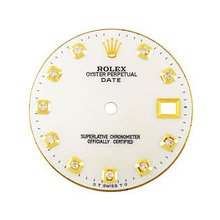 Rolex Datejust Midsize Aftermarket White MOP Diamond Dial, Yellow Gold