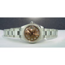 Rolex Lady Datejust Rose Diamond Dial 26mm 179174 Watchchest