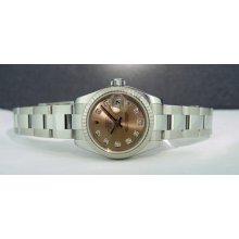Rolex Lady Datejust Rose Diamond Dial 26mm 179174 Watchchest