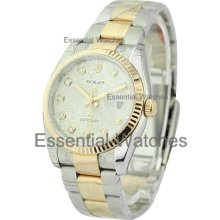 Rolex Mens Datejust 2-Tone SS/RG with Oyster Bracelet 116231