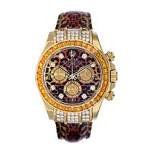 Rolex Men's Leopard Cosmograph Daytona - 18kt Yellow Gold Pre-Owned