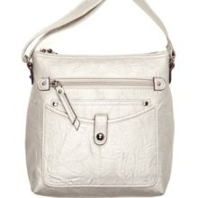 Rosetti Champagne Mini Triple Play Carlene Crossbody Bag