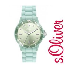 s.Oliver Silicone Band Watch Pastell SO-2287-PQ Unisex