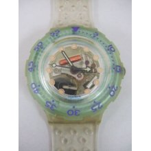 Sdk104 Swatch - 1992 Scuba Jelly Bubble Hands Glow