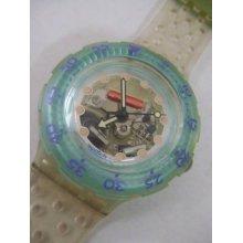 Sdk104 Swatch 92 Scuba Jelly Bubble Hands Glow Art