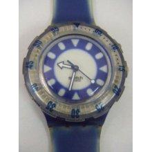 Sdn903 Swatch - 97 Scuba Fish Eye Loomi Blue Hands Glow