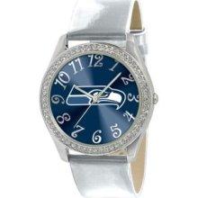 Seattle Seahawks Game Time Glitz Wrist Watch