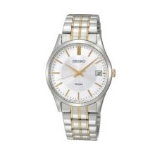 Seiko Men's Silver Dial Stainless Steel Watch Sgef03