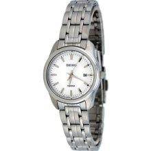 Seiko Sxde63 Women's Watch Quartz White Dial Date Display