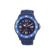 Slim Winter 11 Midnight Big Blue Dial and Silicone Strap Calander WR 5