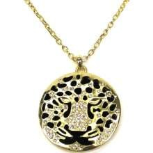 Sofia by Sofia Vergara Women's Necklace Glass Cheetah Gold - CRIMZON