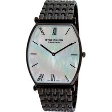 Stuhrling 511 33597 Meydan Swiss Quartz White Mop Dial Bracelet Mens Watch