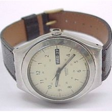 Swatch Stainless Steel Swiss Quartz Movement Wristwatch